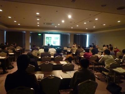 写真:広島国際会議場 「環境に配慮した広島の住い」講演