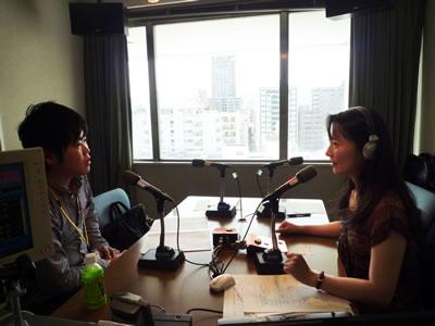 写真:ラジオ出演環境住宅の取り組み