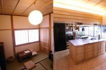 二軒長屋で自然素材の和を再生 広島市中区