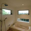 坪庭が見える浴室