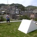 屋上の芝屋根