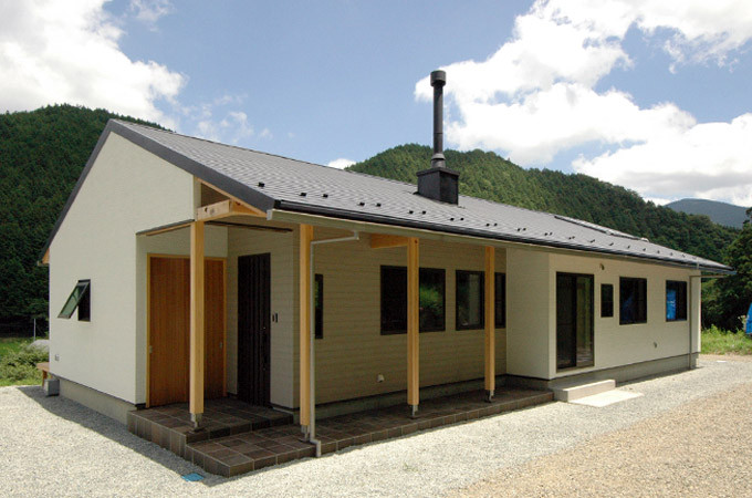 広島県庄原市 薪ストーブのある平屋の家